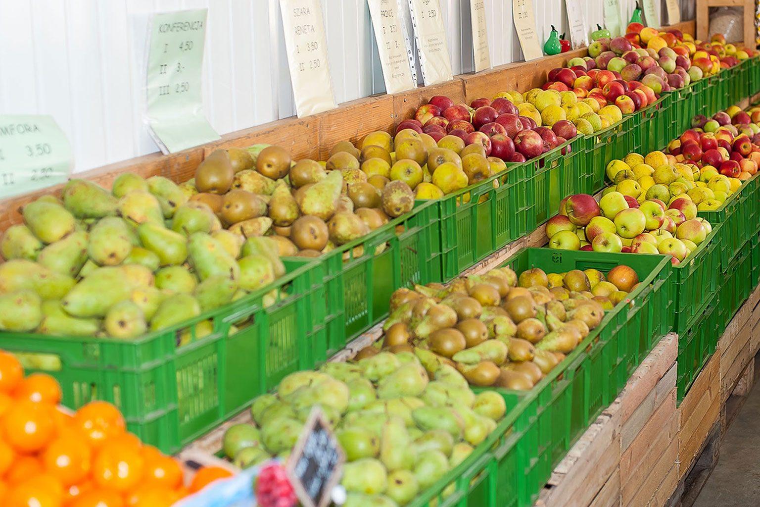Owoce: jabłka i gruszki
